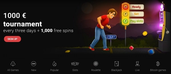 1,000 EUR tournament and 1,000 free spins