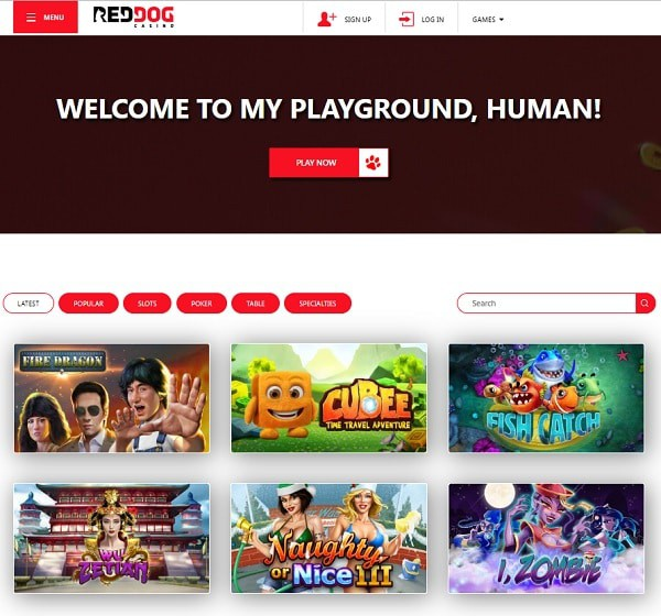 Red Dog Casino Review, Rating, Bonuses