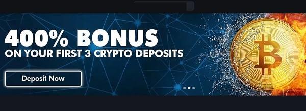 Tangiers 400% bitcoin bonus