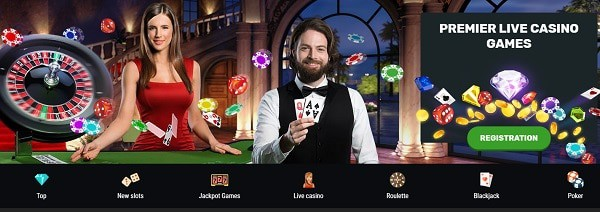 Play Live Dealer games at Betamo Casino!