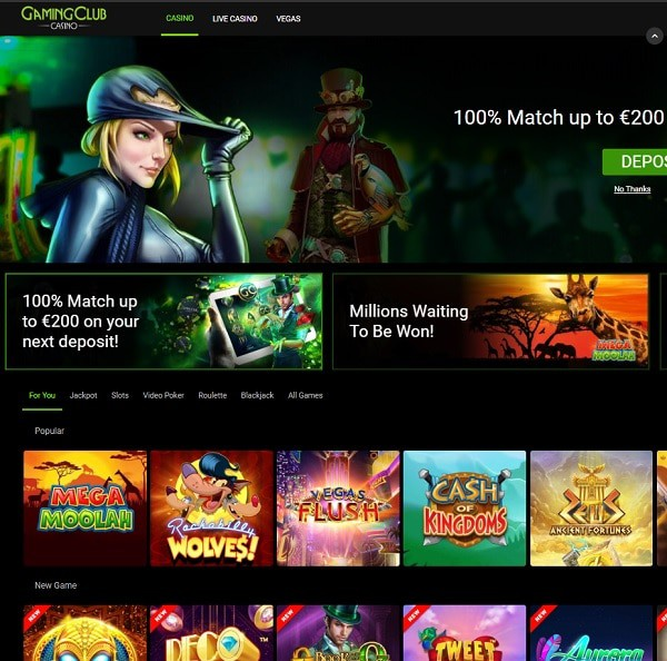 GamingClub Online Casino Review