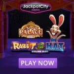 Jackpot City (bonus) 330 free spins on Rabbit in the Hat!