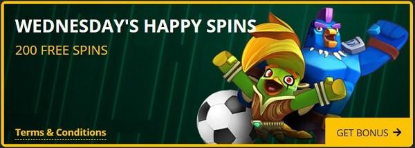 200 free spins every week