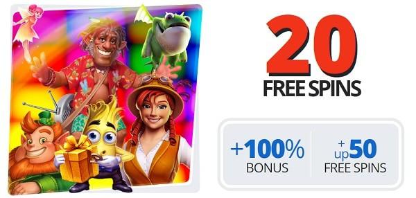 Get 20 free spins to EgoCasino.com!