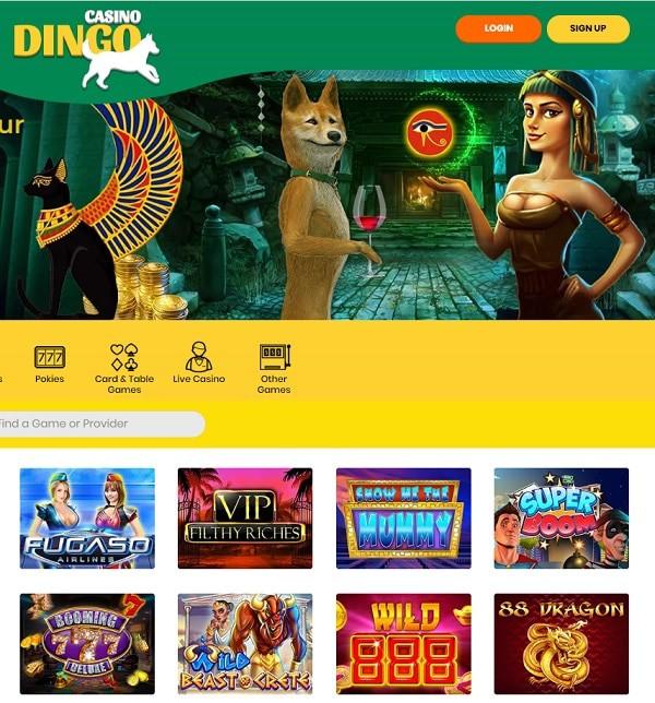 Dingo Casino   400% up to €4000 bonus + 200 free spins   Review