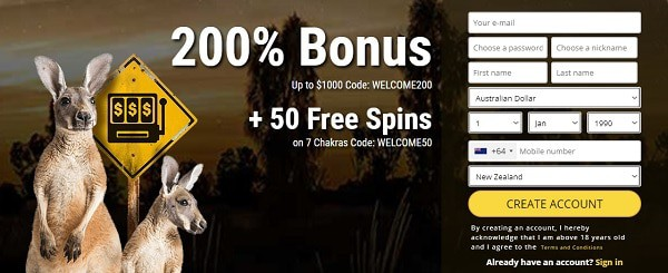 200% bonus and 50 free spins in welcome offers