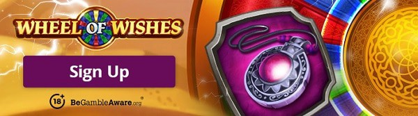 100 free spins on Wheel of Wishes jackpot slot