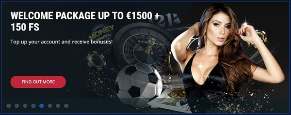 1500 EUR and 150 Free Spins in Welcome Offer