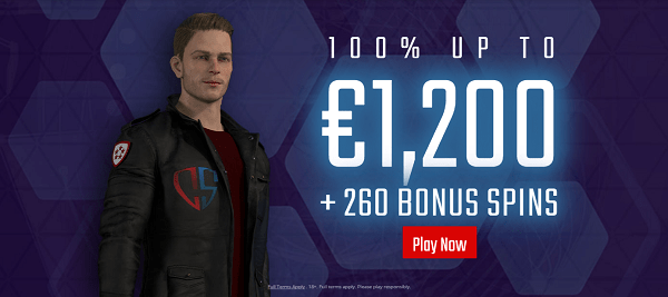 100% up to 1200 EUR and 260 free spins or 520 free spins for UK