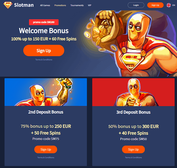 Slotman Homepage Review
