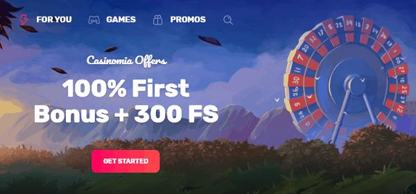 100% Bonus and 300 Free Spins Promotion