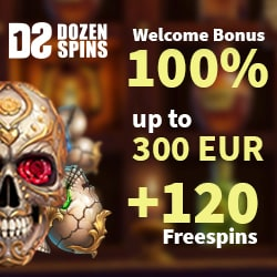100% bonus and 120 free spins
