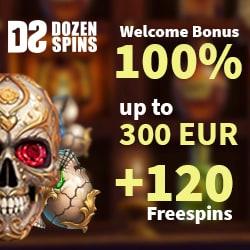 100% bonus and 120 free spins