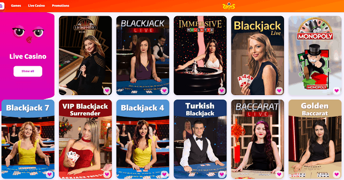 Enjoy Live Table Games 24/7!