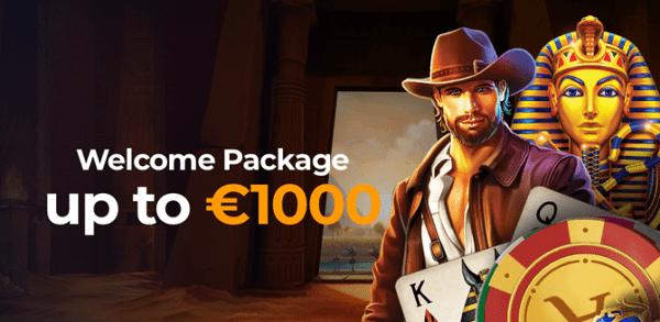1000 EUR new player bonus