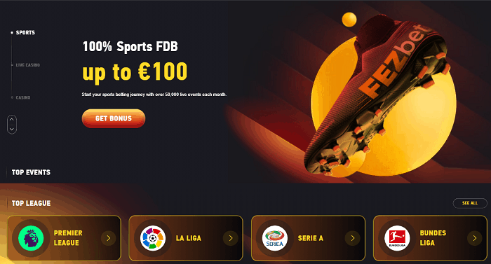 100% Sportsbook Bonus at Fezbet.com