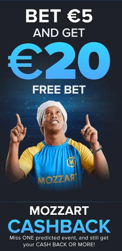 Bet 5 get 20 free