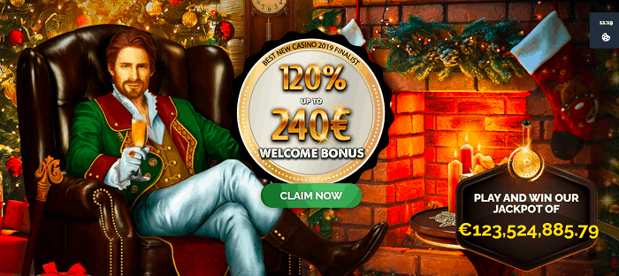 120% bonus and 50 free spins