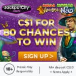 Get 80 free chances on Absolootely Mad for only $1 deposit!