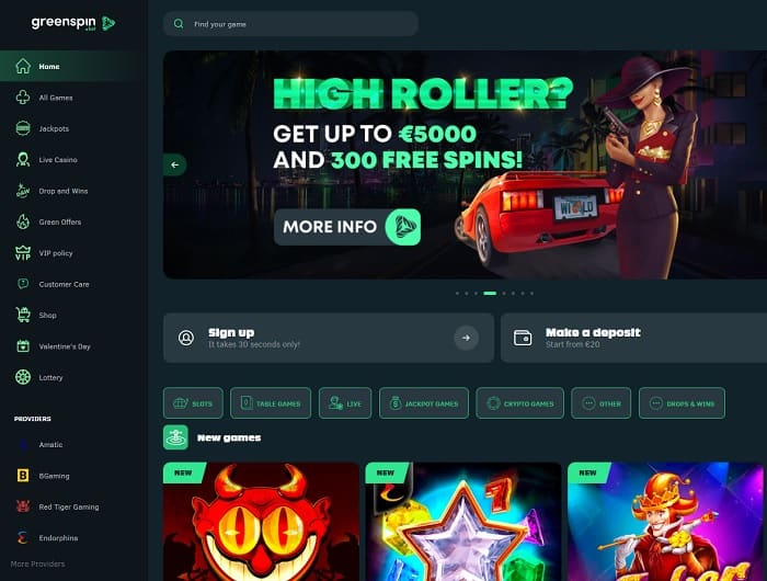 Green Spin Casino Bet Review