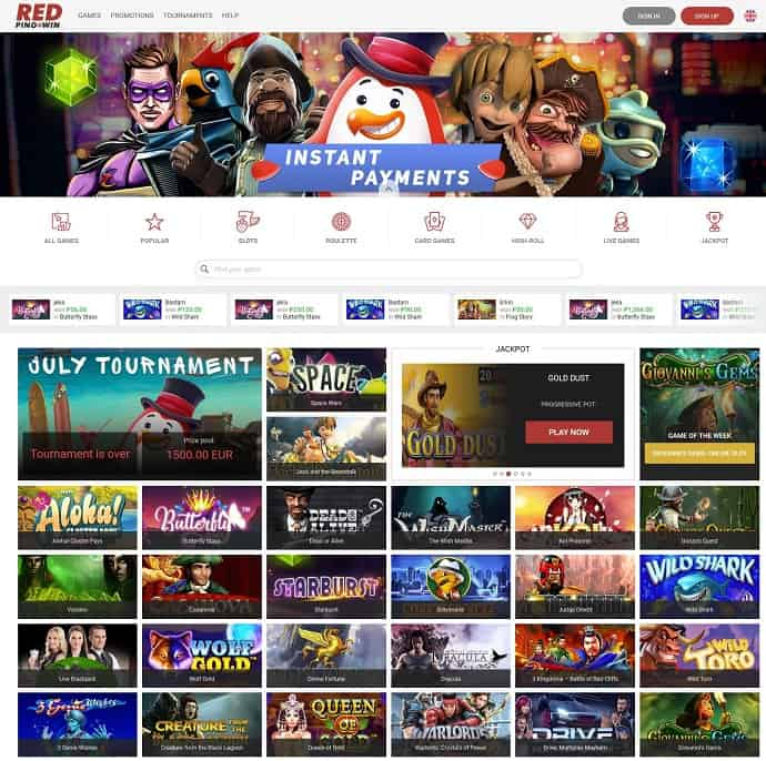 Red Ping Win 100 free spins