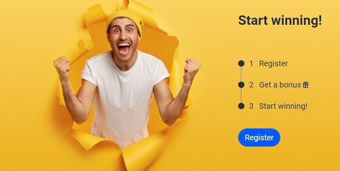 Register and start winning!