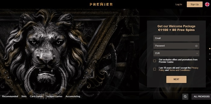 Sign Up and Log In to Premiere Casino