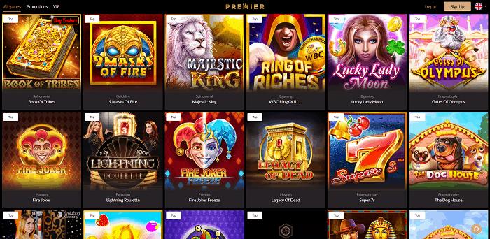 Premier Casino free spins